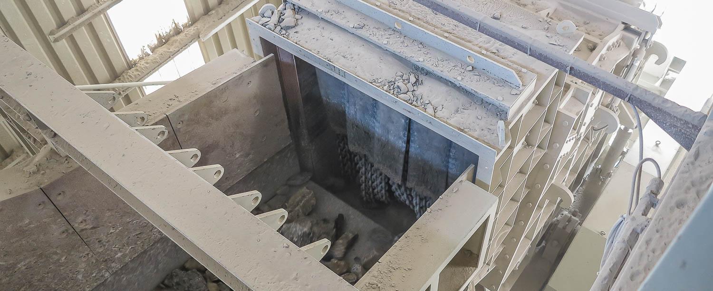 Produktionsablauf Brechen und Sieben Schotterwerk Mayer