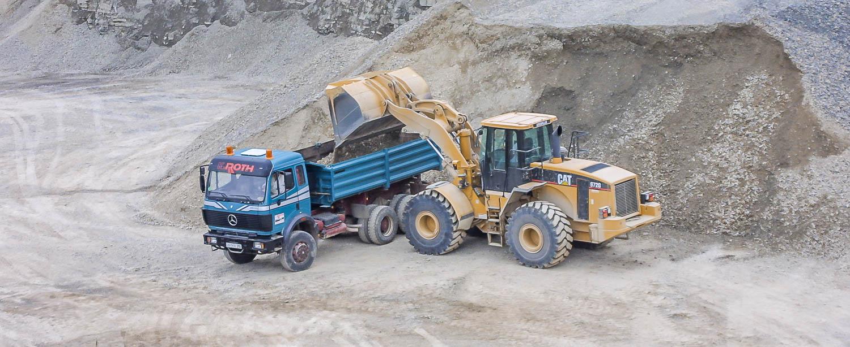 Produktionsablauf Verladen und Verwiegen LKW Beladen