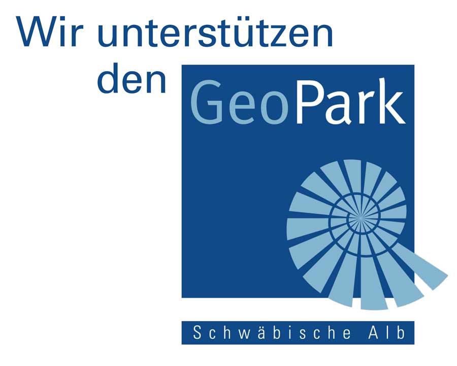 Logo - Wir unerstützen den Geo Park - Schwäbische Alb